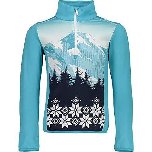 CMP Mädchen Ski Rolli 39L2535 Shirt, Turchese, 128