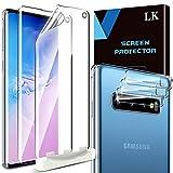 LK Compatible con Samsung Galaxy S10 Protector de Pantalla,3 Pack Protector Pantalla y 3 Pack Protector de Lente de cámara, Película Protectora de TPU,Doble protección