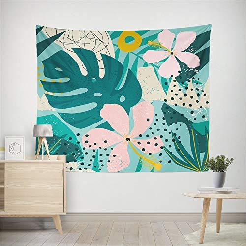 WERT Planta Abstracta Tapiz Colgante de Pared decoración del hogar Manta de Arte HD Sala de Estar Dormitorio Dormitorio Picnic Toalla de Playa A10 150x130cm