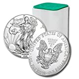 Lot of (20) 1986 - Present American Silver Eagle 1oz Brilliant Uncirculated Silver Eagle Roll may contain mixed or same year coins. We are unable to accommodate specific year request. Diameter: 40.6 mm Edge: Reeded