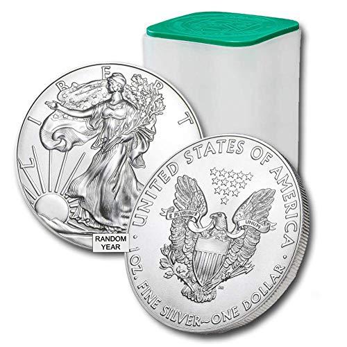 1986 - Present (Random Year) Lot of (20) 1-Ounce American Silver Eagle $1 .999 Fine Silver Brilliant Uncirculated US Mint