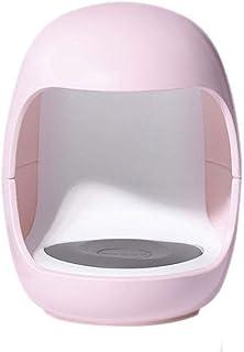 Mini Nail Art Pequeña Lámpara De Uñas Portátil con Forma De Huevo Lámpara De Uñas De Secado Rápido Pequeña Y Conveniente, Adecuada para Todos Los Esmaltes De Uñas,Rosado