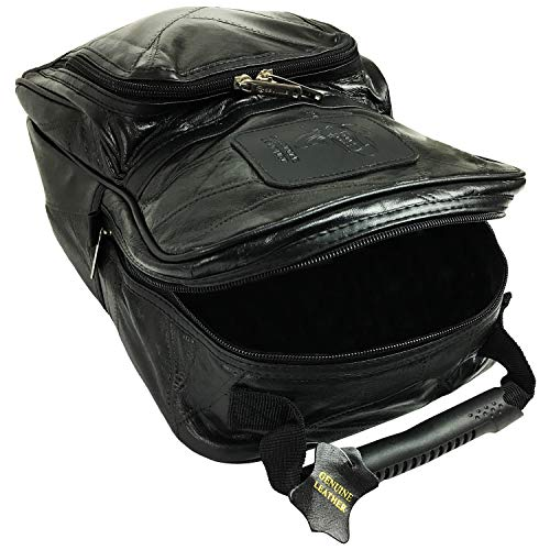 Golf Shoe Bag Men Leather with Separate Compartments for Shoes and Golf accessories | Leather Shoe Bag for travel | Golfing Gifts for Men