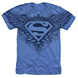 Popfunk Superman Winged S Shield Logo All Over T Shirt & Stickers (X-Large) Blue