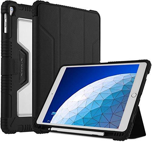 Nillkin Funda para iPad Air 3 2019/ iPad Pro 10.5 2017,funda protectora de parachoques a prueba de golpes de cuerpo completo,activación/suspensión automática y protector de pantalla Super Clear gratis