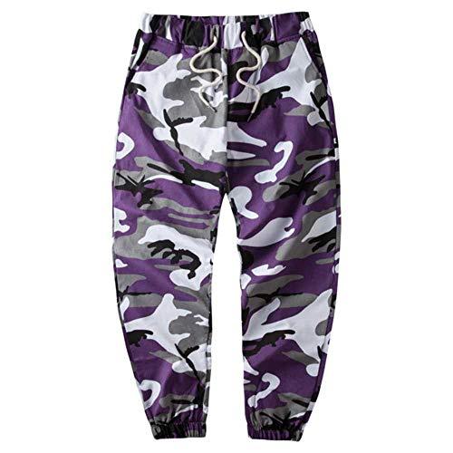 Preisvergleich Produktbild Orange Camouflage Joggerhose Männer Hip Hop gewebte Freizeithose Taktische Militärhose Taschen Baumwolljogginghose