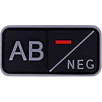 AB+//POS Morton Home Blood Type ABO Tactical Morale Patch Military Combat Armband Clothing Badge for Jackets Jeans Hat Cap Fluorescent Luminous