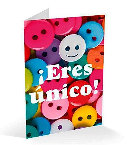 Grupo Erik editores- Carte felicitacion Boutons eres Unico