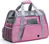 ALYR Cane Borsa Trasporto Portatile, Contenitori da Trasporto per Gatti per Escursionismo Viaggio Camping Outdoor Tenere Animali Domestici Pet Travel Bag Contenitori da Trasporto per Cani,Pink