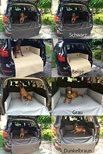 Golden Dog Kofferraum Matte Hundebett Schutzmatte Hunde Autositz Autoschondecke Kunst Leder (M (100x80x25x60cm), Beige)