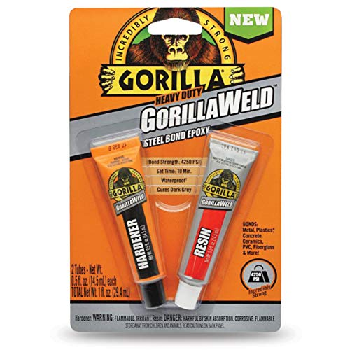 Gorilla Heavy Duty GorillaWeld Steel Bond 2-Part Epoxy, (Pack of 1)