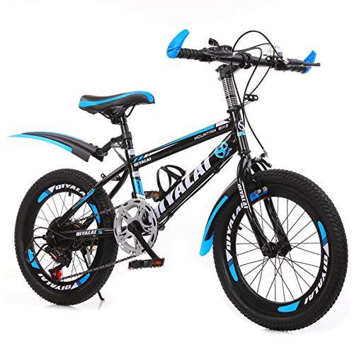 GZMUK 18/20/22/24 Zoll Mountainbike Fahrrad Für Mädchen, Jungen, Herren Und Damen 7 Gang-Schaltung Fahrrad Kinderfahrrad,Blau,22 in