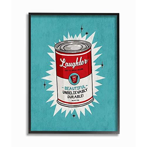 Preisvergleich Produktbild Stupell Industries Canned Laughter Funny Vintage Comic Book,  Design by Artist Ester Kay Wandkunst,  MDF,  Schwarzer Rahmen,  24x30