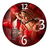 Luxxora Personalised Photo Wall Clock , Round , Gift for Husband , Birthdays , Wife , Marriage Anniversary , Wedding Day , Valentine's Day & All Occassions (Size 8 x 8 inch)