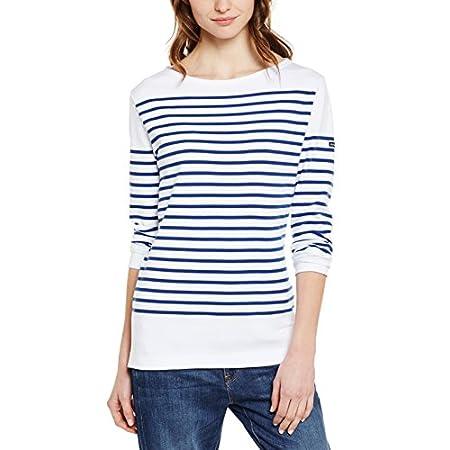 Armor Lux Damen T-Shirt Langarmshirt Blanc Weiss