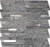 Piastrelle a mosaico in marmo naturale, in acciaio inox, per pareti, bagno, doccia, cucina, specchio, rivestimento, vasca da bagno, tappetino a mosaico