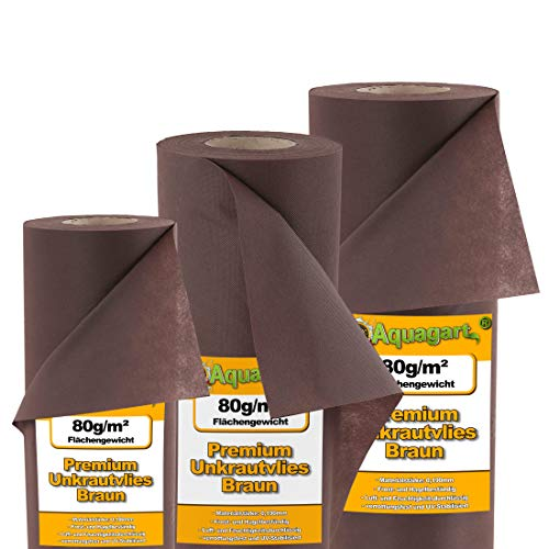 M ² 140 tapis de paillage mauvaises 80 g marron 1,4 m de large
