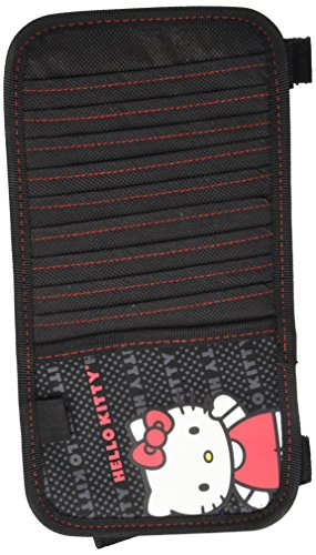 LA Auto Gear Hello Kitty with Red Bow and Red Dress Waving Hand Paw with Script Name Word Sanrio 10 CD/DVD Car Truck SUV Visor Organizer