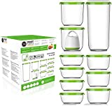 FOSA Vacuum Seal Food Storage System Reusable Container Deluxe Set with Vacuum and 10 Reusable...