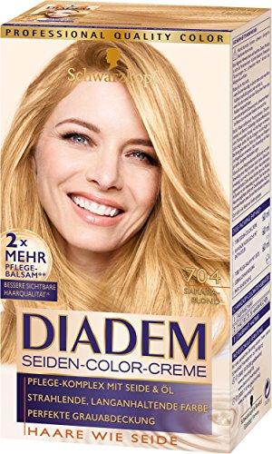 SCHWARZKOPF DIADEM Seiden-Color-Creme 704 Saharablond Stufe 3, 3er Pack (3 x 180 ml)