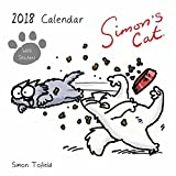 Simon's Cat Kalender, quadratisch, mit Aufklebern, 2018.