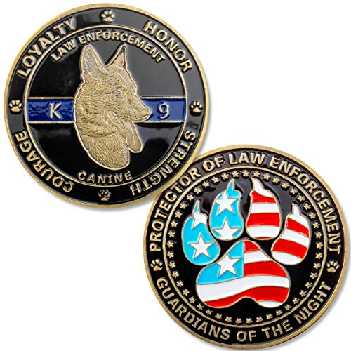 Hero Designs K9 Challenge Coins (Pack of 2 Coins)
