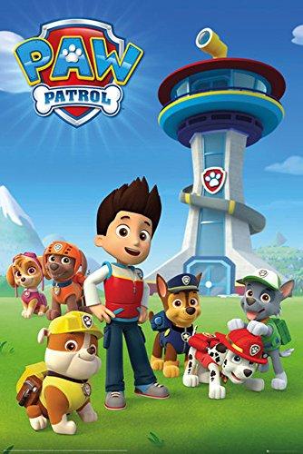 Paw Patrol - Team - Tiere Animal Kinder Fernseh TV Serie Poster Plakat Druck - Grösse 61x91,5 cm