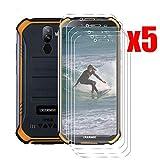 QFSM 5 Pack Película Protectora para DOOGEE S40, Resistente al Desgaste Protector de Pantalla para teléfono móvil Vidrio Templado