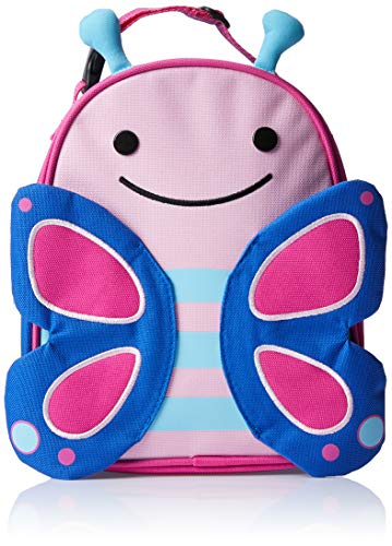Skip Hop Zoo Lunchies - Bolsa térmica, diseño butterfly, color rosa