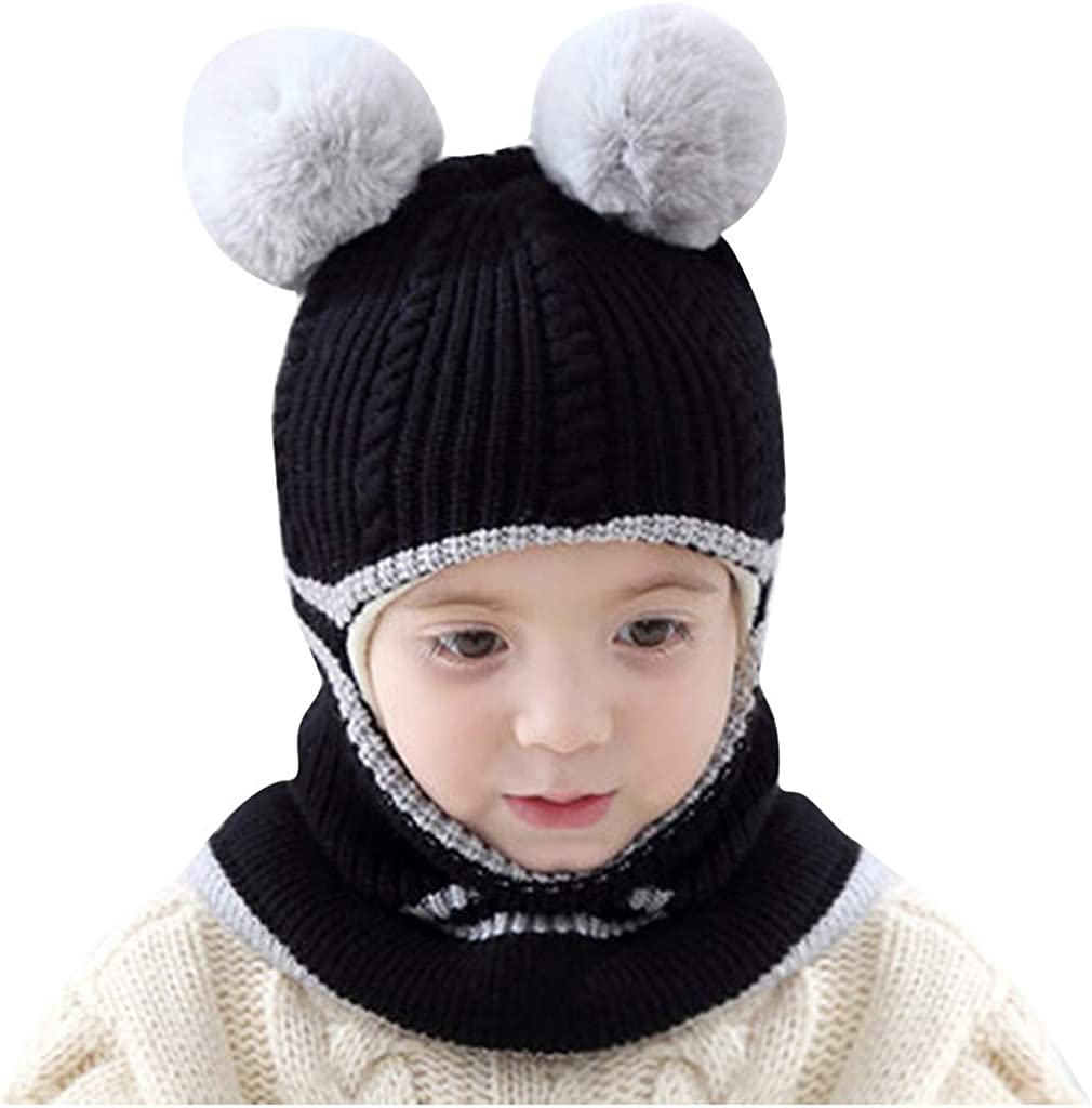 Toddler Kids Baby Boys Girl Pompon Warm Winter Ranking TOP10 Hat Knit Crochet Now free shipping