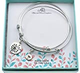 Mother Daughter Women's Bangle Bracelets in Stainless Steel |...