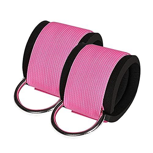 1 par de correas de tobillo de fitness para máquina de cable, accesorio de manguito de entrenamiento, tirantes de tobillo ajustables para mujeres y hombres, para entrenamientos en el hogar y gimnasi