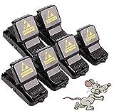 FEALING Trampas para Ratas,【6 Pack】 Trampa para Ratones Reutilizable, Trampa Ratones Interiores y Exteriores, Ratas Ratoneras Trampa, Rat Trap, Alta Sensibilidad Respuesta Rápida Potente Seguro