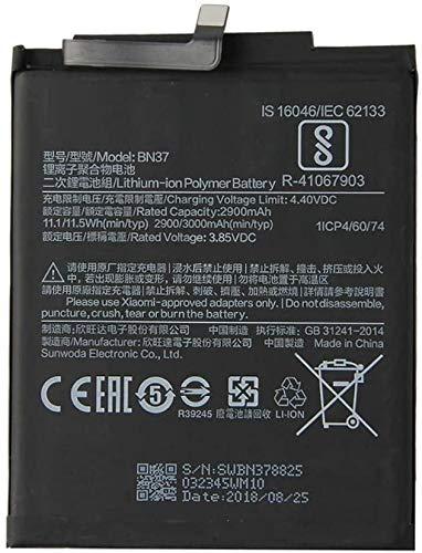 Todobarato24h Bateria Compatible BN37 2900 mAh Compatible con Xiaomi REDMI 6 / 6A