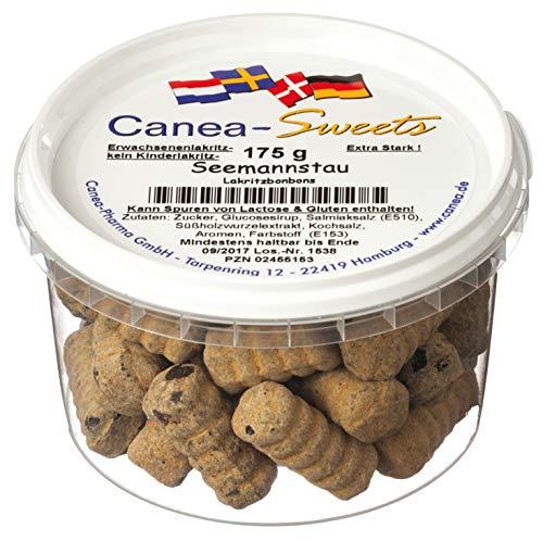 Canea-Sweets SEEMANNSTAU Lakritzspiralen Lakritz, 1er Pack (1 x 175 g)