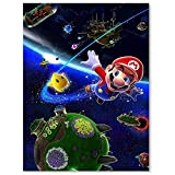 Canvas Pictures Paint For Kids Super Mario Galaxy Wall Art Canvas Pictures For Wall Custom Poster 18x24inch