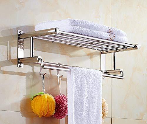 Toalla de acero inoxidable toalla de toalla de baño, estantería, estantería, estantería, estante de toalla