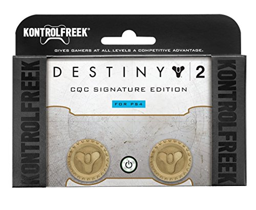 KontrolFreek Destiny 2 CQC Signature Edition for PlayStation 4 (PS4) Controller   Performance Thumbsticks   2 Mid-Rise   Gold