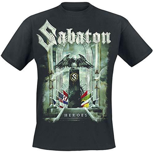 Sabaton Heroes - to Hell and Back Männer T-Shirt schwarz XXL 100% Baumwolle Band-Merch, Bands