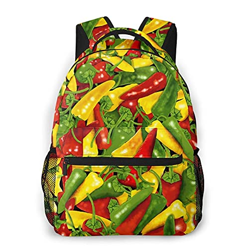AOOEDM Mochila para hombres y mujeres, chili Pepper Casual Daypacks Mochilas Travel Shoulder Bag