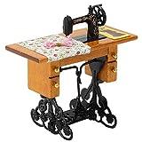 Casa de muñecas a escala 1:12, Mini modelo de máquina de coser Vintage, Mini casa de muñecas, muebles de simulación, decoración, modelo, accesorio