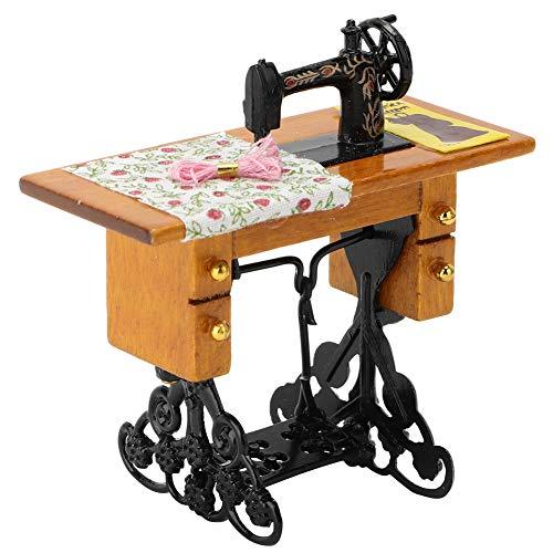 Poppenhuis accessoire, Vintage miniatuur naaimachine accessoire kamer 1:12 meubels poppenhuis speelgoed