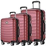 Andreas Dell REISEKOFFER REISEKOFFERSET 3 Set Trolley Koffer Farbe Bordo TSA Schloß XL L M Kofferset REISEKOFFER …