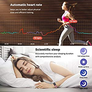 DoSmarter Fitness Tracker, Health Watch with All-Day Blood Pressure Heart Rate Monitoring,Waterproof Activity Tracker with Calories Miles Counter and Sleep Tracking for Women Man