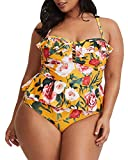 Tutorutor Womens Plus Size Swimwear 2 Piece Floral...