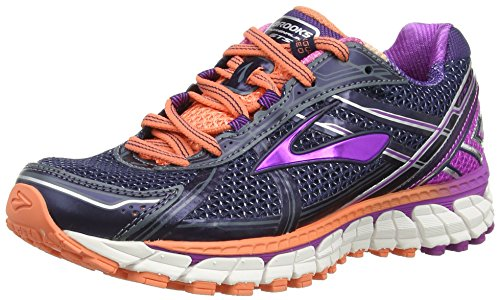 Brooks Women's Adrenaline GTS 15, Peacoat/Purple Cactus Flower/Fresh Salmon, 8 B(M) US