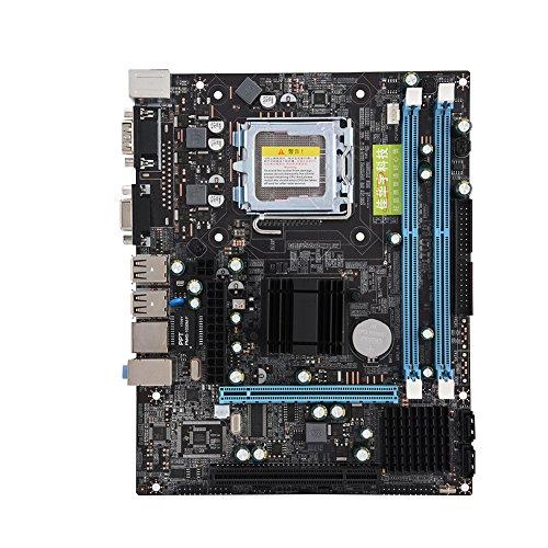 Tonysa Placa Base para computadora de Escritorio Dual Core 800MHz USB 2.0 DDR2 Placa Base para P4 / PD/Pentium Dual-Core E2XXX, Celeron4XXX / Wolfdale y Otros procesadores de la Serie LGA 775