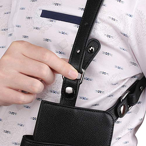Anti-Theft Underarm Shoulder Bag Hidden Strap Wallet Holster Bag Leisure Double Shoulder Wallet Security Concealed Pack Backpack (Black)
