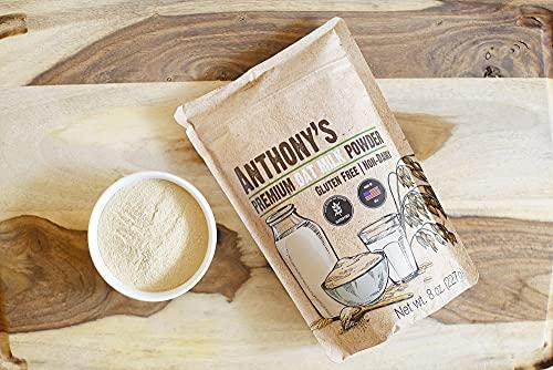 Anthony's Premium Oat Milk Powder, 8 oz, Gluten Free, Non GMO, Vegan, Made in USA