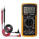 Q&N Pantalla LCD Multímetro Digital AC/DC Voltage Meter Medidor De Herramientas Profesionales Amperímetro del Voltímetro Ohmímetro Multitester Diodo Resistencia Capacitancia,Amarillo